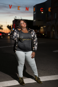 black-woman-wearing-a-plus-size-t-shirt-mockup-at-night-a18304